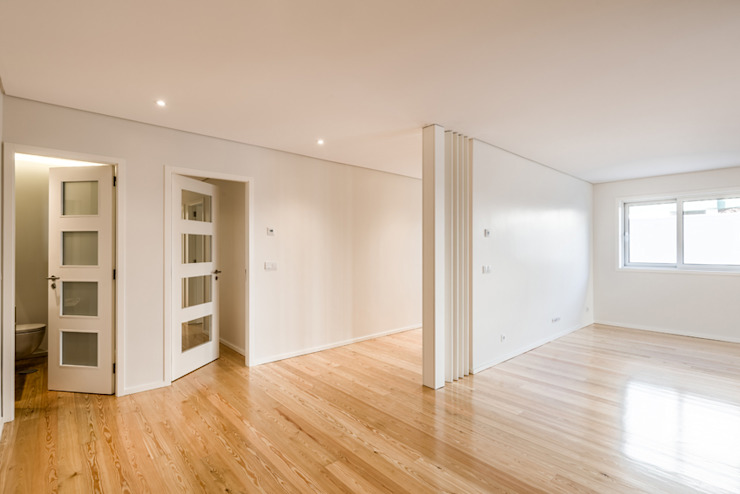 Sala - T3 em Leça da Palmeira - SHI Studio Interior Design ShiStudio Interior Design Salas de estar modernas