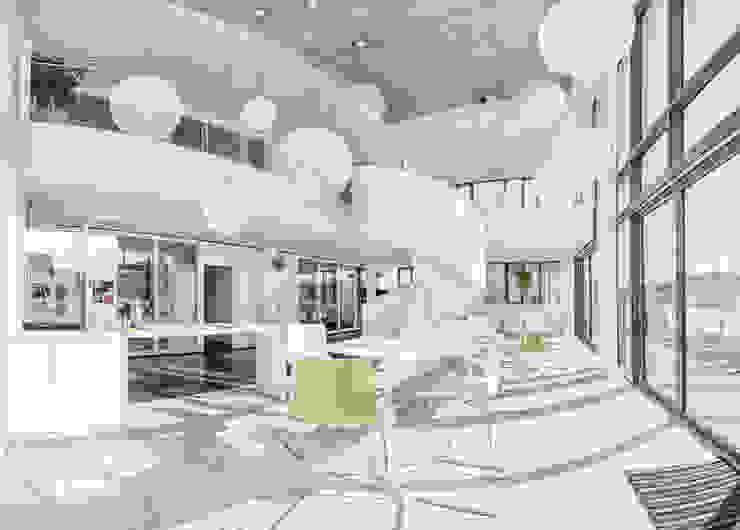 Pausenraum / Eventfläche / Atrium Moderne Bürogebäude von Kaldma Interiors - Interior Design aus Karlsruhe Modern