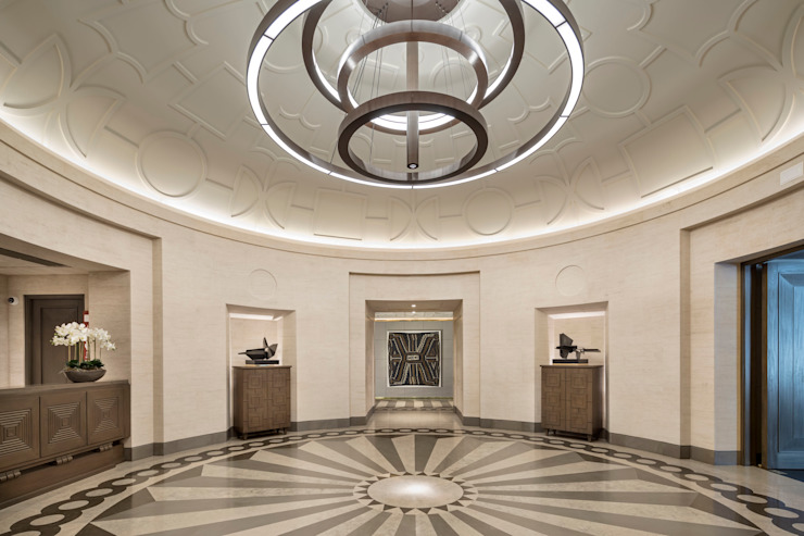 TRAZZO ILUMINACIÓN Minimalist corridor, hallway & stairs