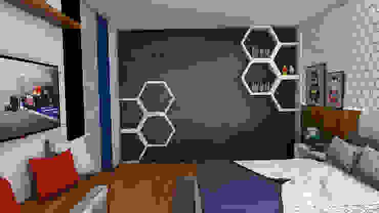 Modern style bedroom by NF Diseño de Interiores Modern