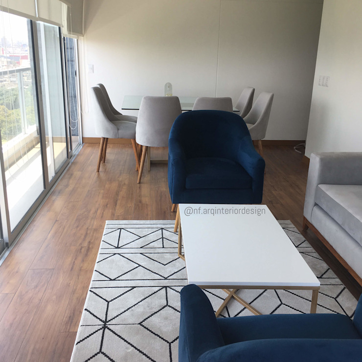 PROYECTO SALA Y COMEDOR - LE SAULE LINCE- Salas modernas de NF Diseño de Interiores Moderno