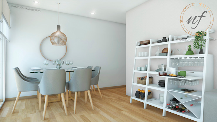 Modern dining room by NF Diseño de Interiores Modern