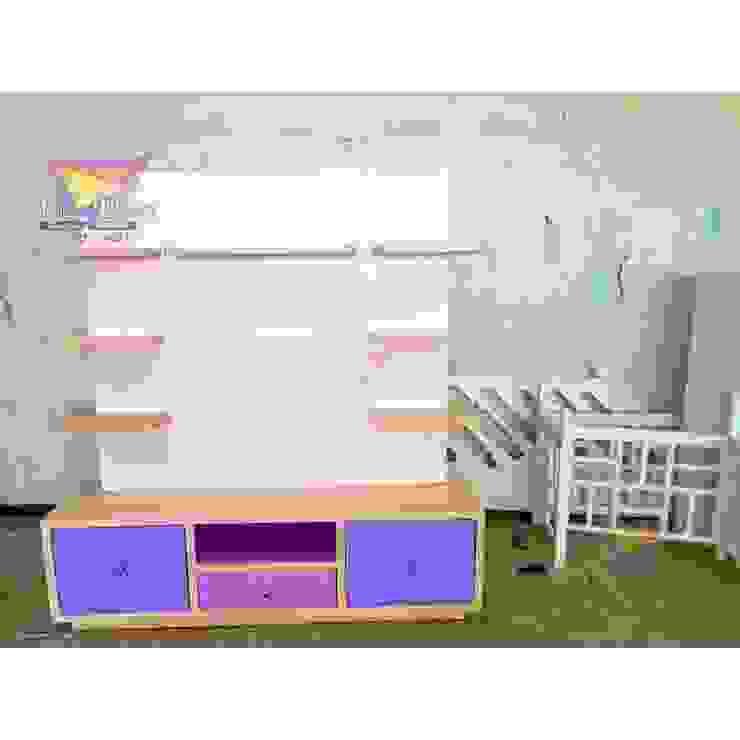 Mueble para t.v de camas y literas infantiles kids world Moderno Derivados de madera Transparente