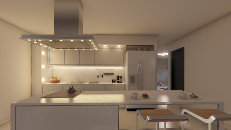 Kitchen by Luis Barberis Arquitectos, Minimalist