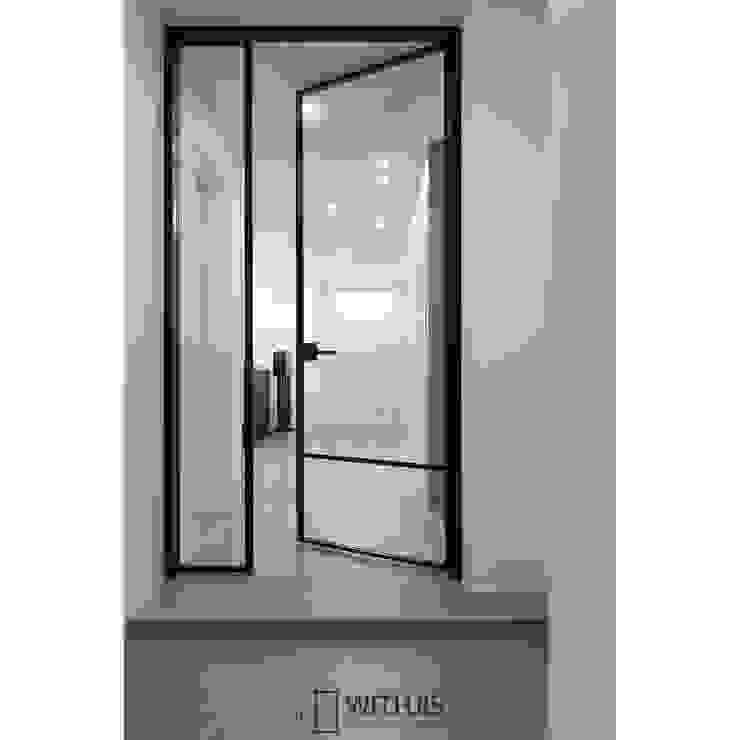 WITHJIS(위드지스) ประตูหน้า อลูมิเนียมและสังกะสี Black