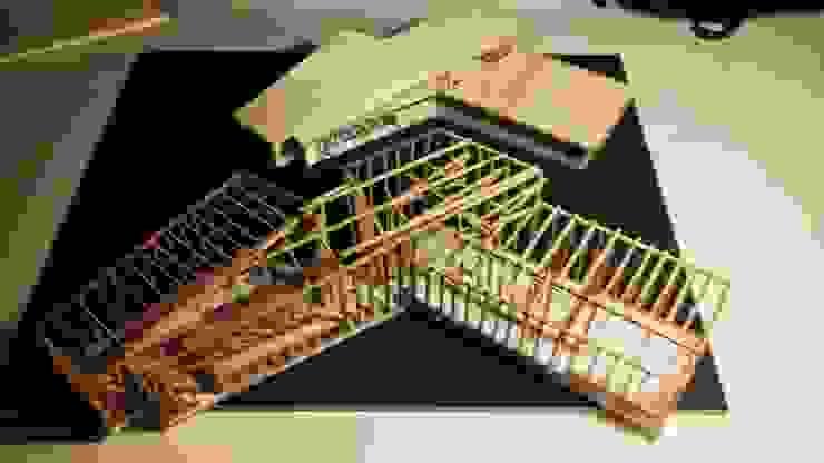 Maqueta de Propuesta Estudios y bibliotecas de estilo rústico de Intermedio Arquitectos Rústico Madera Acabado en madera