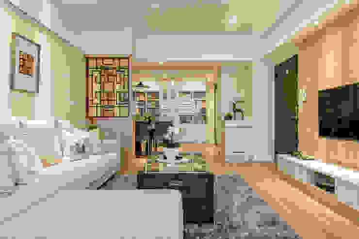 自然質樸-翊盛新天地 富亞室內裝修設計工程有限公司 客廳 實木 Beige