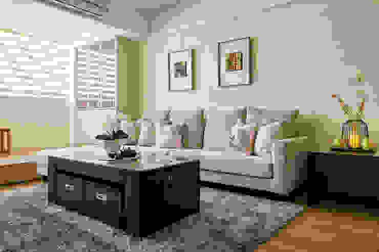 自然質樸-翊盛新天地 富亞室內裝修設計工程有限公司 现代客厅設計點子、靈感 & 圖片 水泥 Beige
