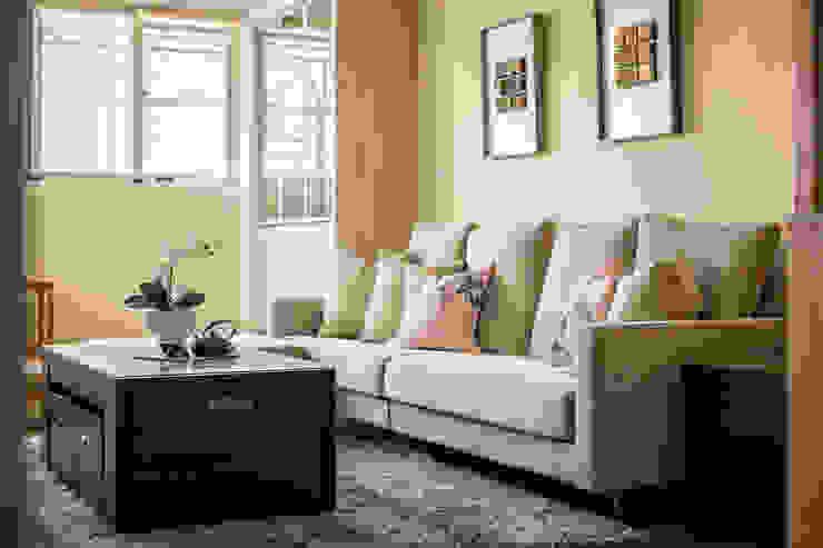 自然質樸-翊盛新天地 富亞室內裝修設計工程有限公司 客廳 水泥 Beige