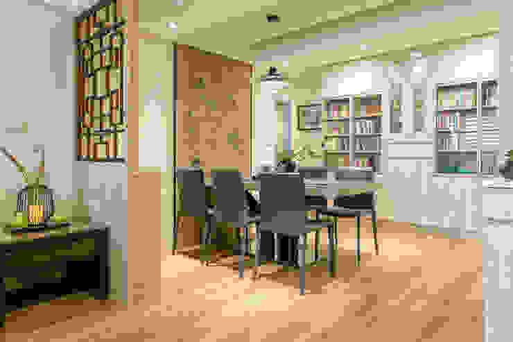自然質樸-翊盛新天地 富亞室內裝修設計工程有限公司 餐廳 磁磚 Brown