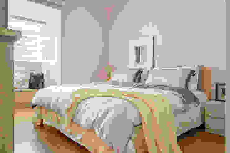 自然質樸-翊盛新天地 富亞室內裝修設計工程有限公司 臥室 水泥 Pink