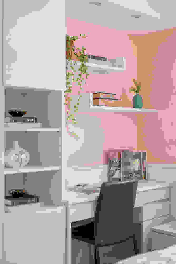 自然質樸-翊盛新天地 富亞室內裝修設計工程有限公司 小臥室 水泥 Pink