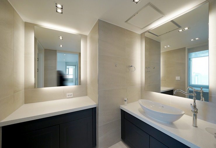 복층 펜트하우스 인테리어 모던스타일 욕실 by 디자인 아버 모던