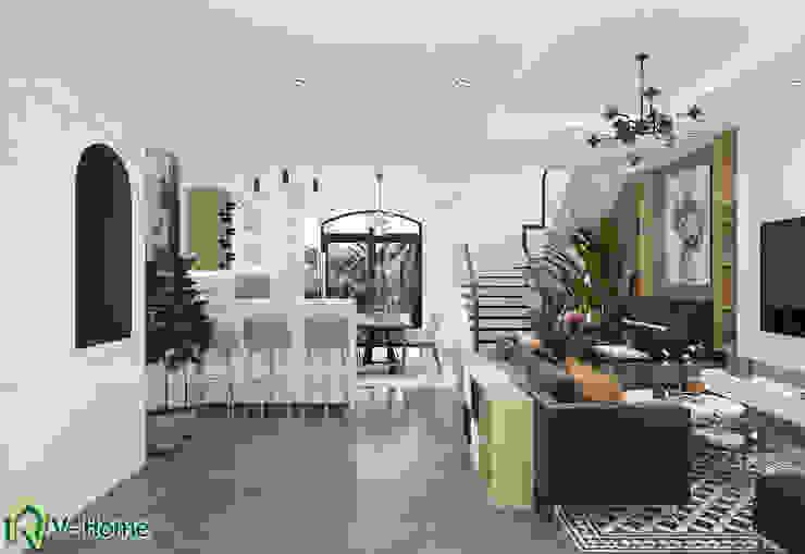 Thiết kế nội thất biệt thự hiện đại Vinhomes Riverside the Harmony – A. Thư: hiện đại  by Công ty CP tư vấn thiết kế và xây dựng V-Home, Hiện đại