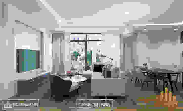 Không gian phòng khách bởi Thiết kế - Nội thất - Dominer