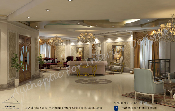 Classic style corridor, hallway and stairs by Authentic for interior designs Classic