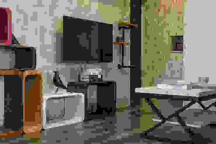 自我的個性表答不受約束的心靈-公園1號 富亞室內裝修設計工程有限公司 牆面 水泥 Grey