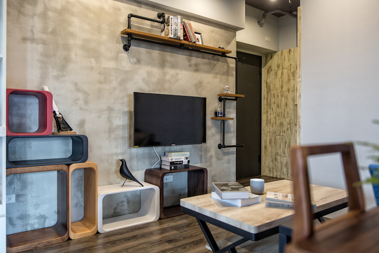 自我的個性表答不受約束的心靈-公園1號 富亞室內裝修設計工程有限公司 牆面 金屬 Black