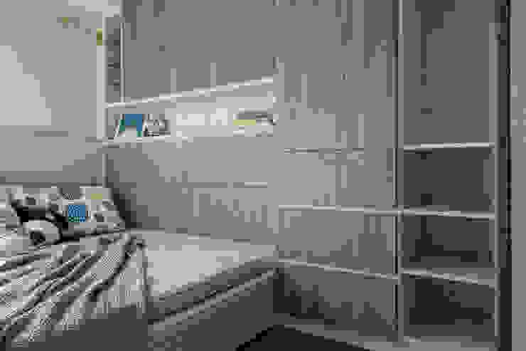 自我的個性表答不受約束的心靈-公園1號 富亞室內裝修設計工程有限公司 小臥室 MDF Grey