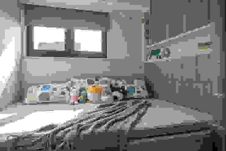 自我的個性表答不受約束的心靈-公園1號 富亞室內裝修設計工程有限公司 小臥室 水泥 Green