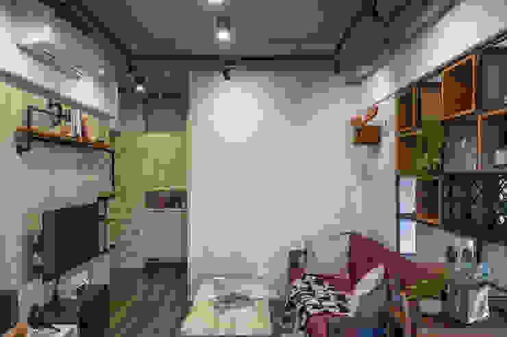 自我的個性表答不受約束的心靈-公園1號 富亞室內裝修設計工程有限公司 牆面 水泥 Blue