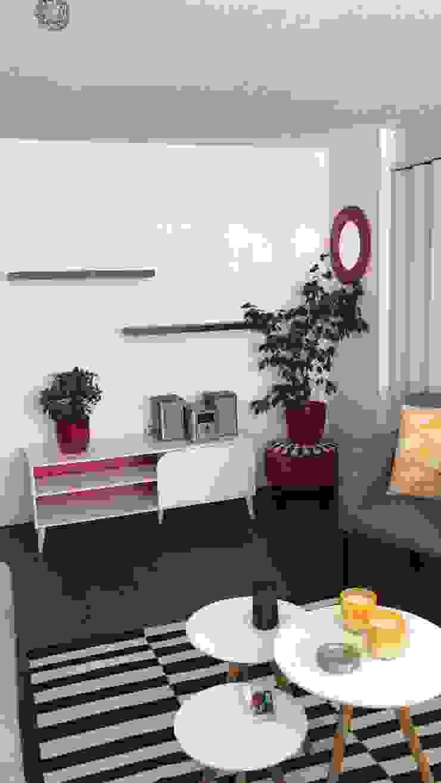 Departamento Villaseca, Ñuñoa Livings de estilo moderno de Agapanto Moderno