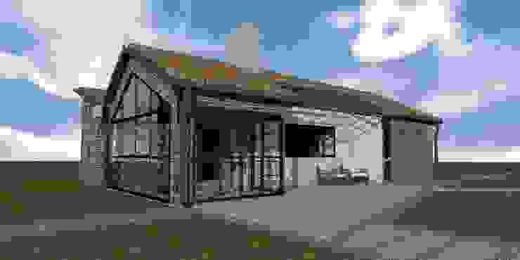 CASA TRES AGUAS Casas de estilo rústico de BICHO arquitectura Rústico Ladrillos
