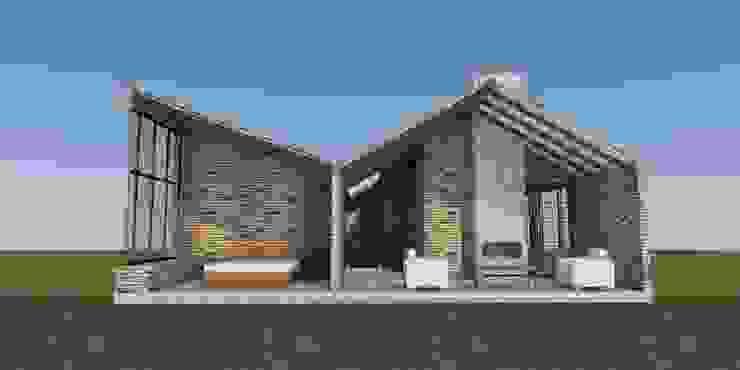 CASA TRES AGUAS de BICHO arquitectura Rústico Ladrillos