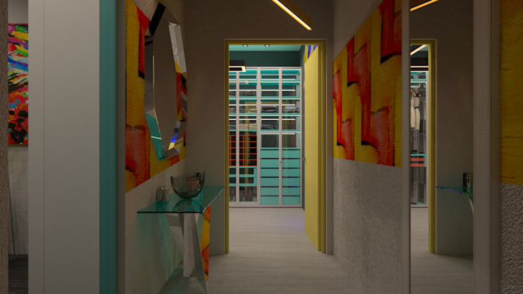 Modern corridor, hallway & stairs by Perfection A&D Modern