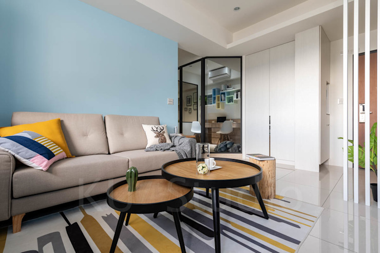溫馨成家-及第好悅 根據 富亞室內裝修設計工程有限公司 北歐風 水泥
