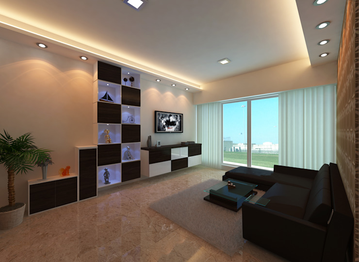 :  Living room by Bluearch Architects & Interiors,
