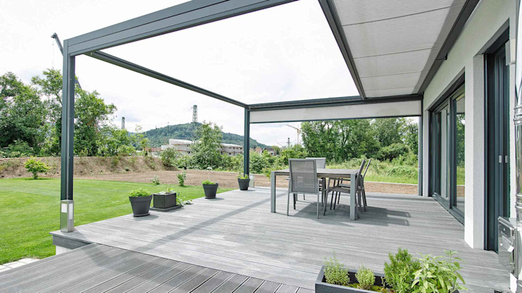 Terrazas de estilo  por Markisen Zanker im Raum Stuttgart