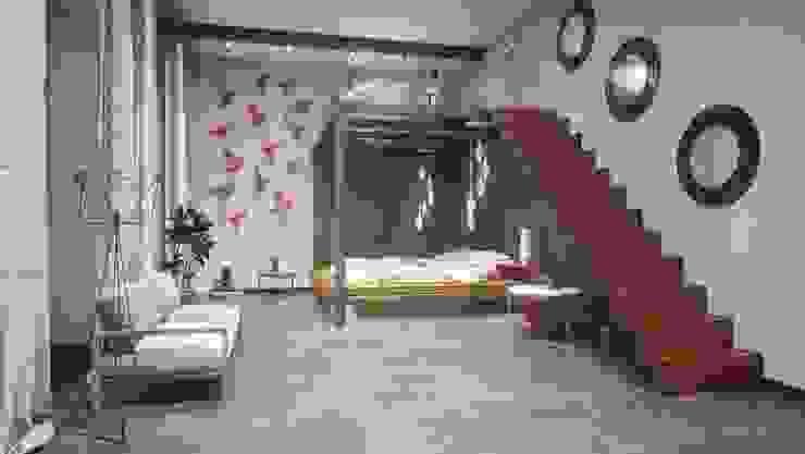 Salas de estar minimalistas por Андреевы.РФ Minimalista