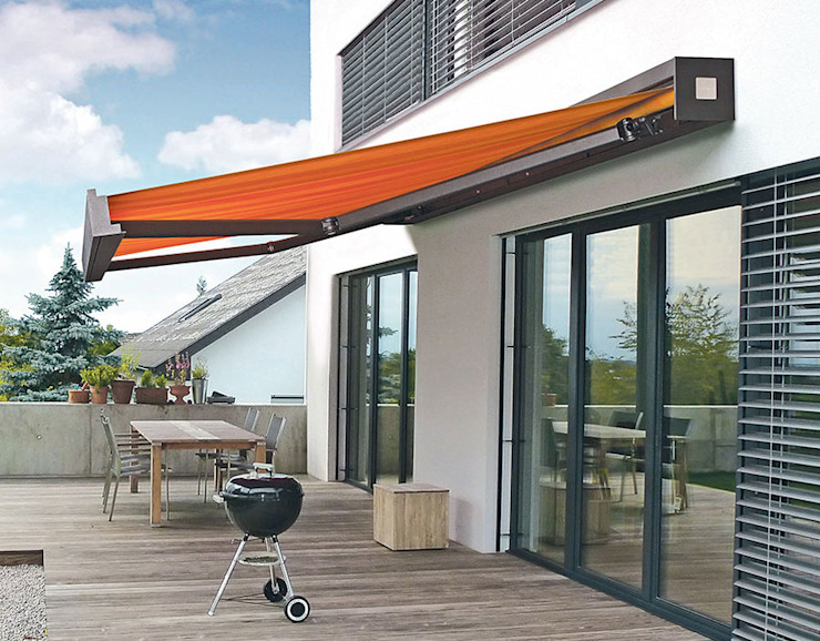 Balcones y terrazas modernos de Markisen Zanker im Raum Stuttgart Moderno Aluminio/Cinc