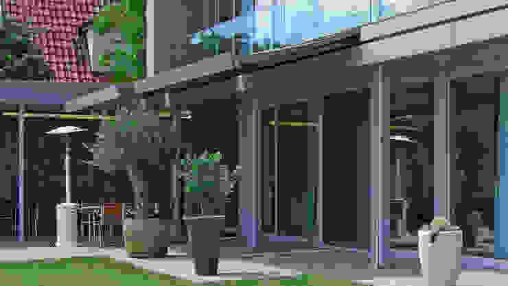 Markise in der Hauswand Moderner Balkon, Veranda & Terrasse von Markisen Zanker im Raum Stuttgart Modern Aluminium/Zink