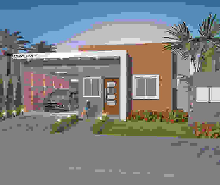 Casas pequeñas de estilo  por HECK Arquitetura e Engenharia, Moderno