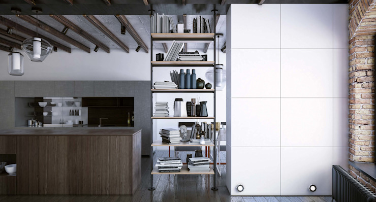 Industrial style kitchen by Damiano Latini srl Industrial Aluminium/Zinc