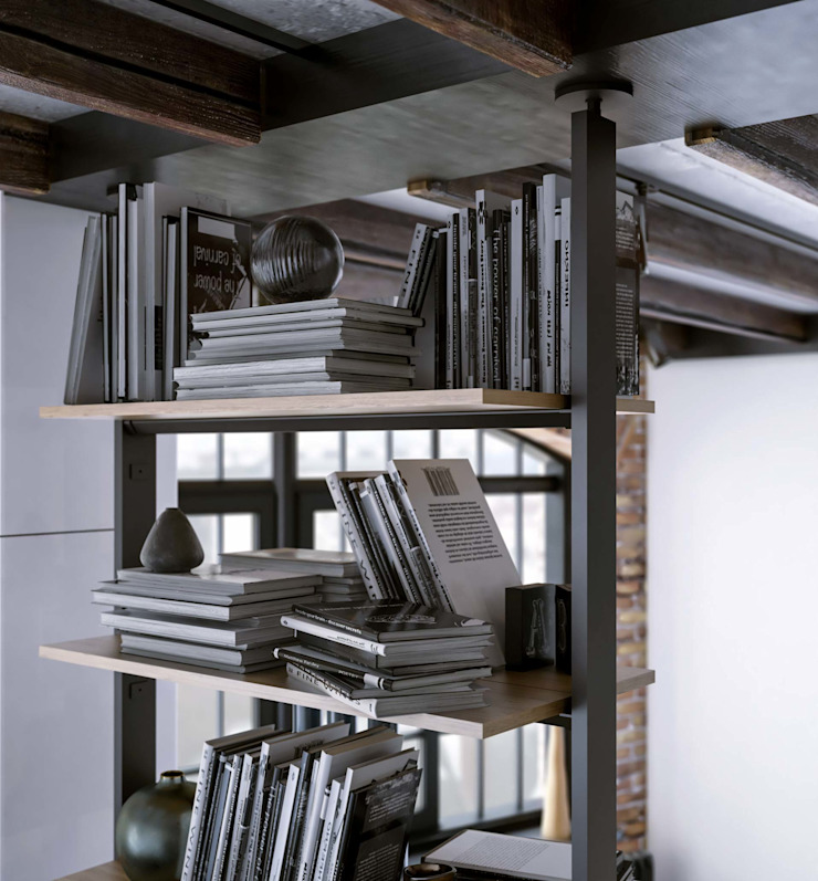 Industrial style dining room by Damiano Latini srl Industrial Aluminium/Zinc