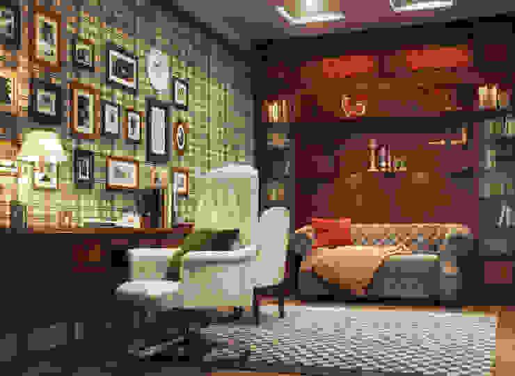 Irina Yakushina Ruang Studi/Kantor Klasik