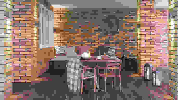 Irina Yakushina Industrial style balcony, veranda & terrace