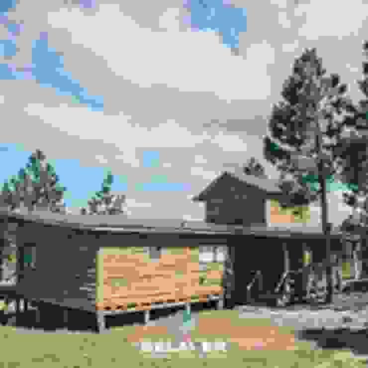 Construcciones de cabañas en tronco Salones de eventos de estilo rústico de Constructora Belaver Rústico