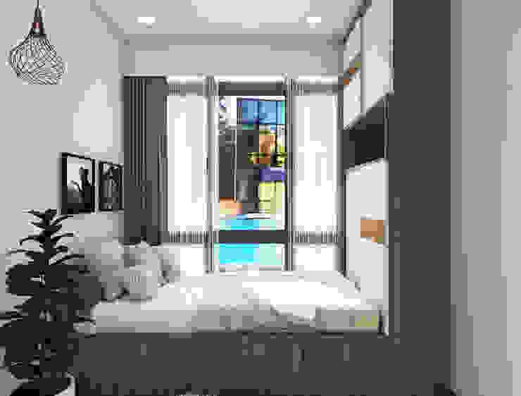 Scandinavian style  bedroom interiors :  Bedroom by Rhythm  And Emphasis Design Studio ,