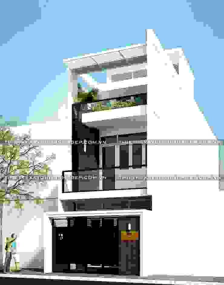 Các mẫu nhà ống đẹp 3 tầng mặt tiền rộng 5m bởi Công ty cổ phần tư vấn kiến trúc xây dựng Nam Long