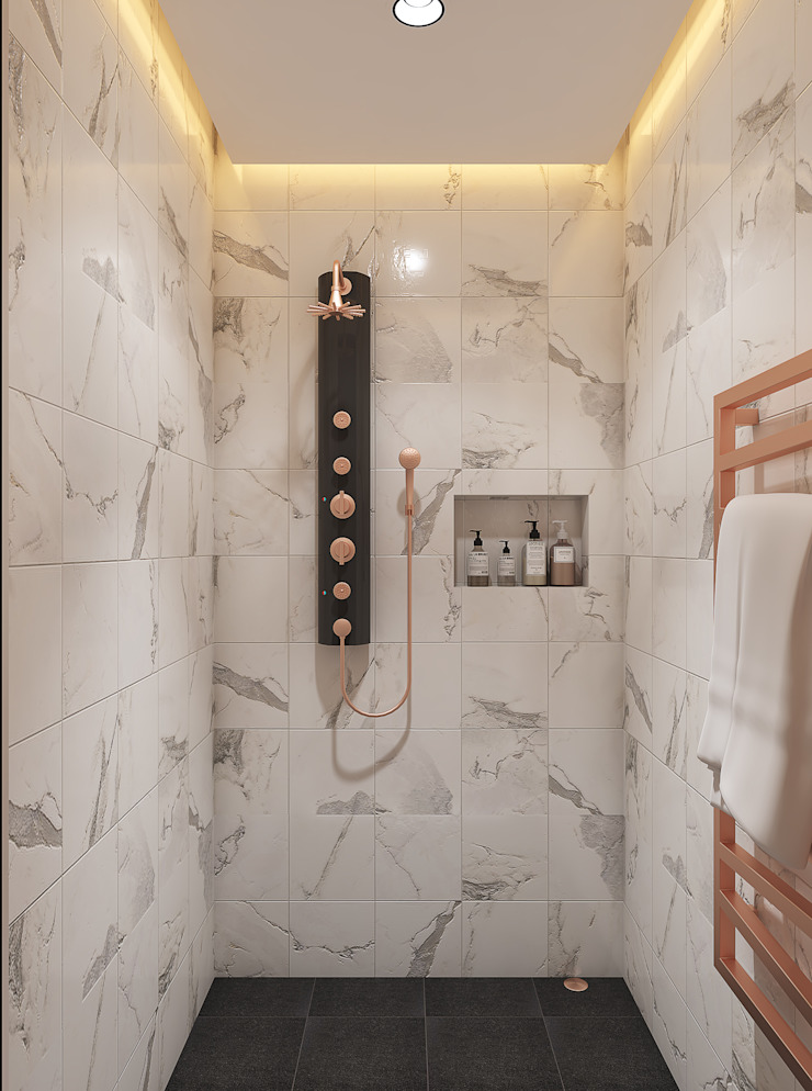 Classic bathroom design توسط Rhythm And Emphasis Design Studio کلاسیک