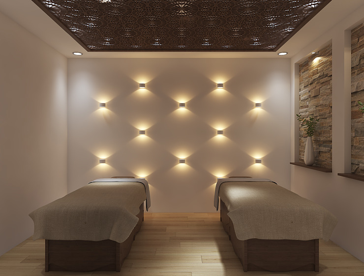 Spa room design توسط Rhythm And Emphasis Design Studio مدرن