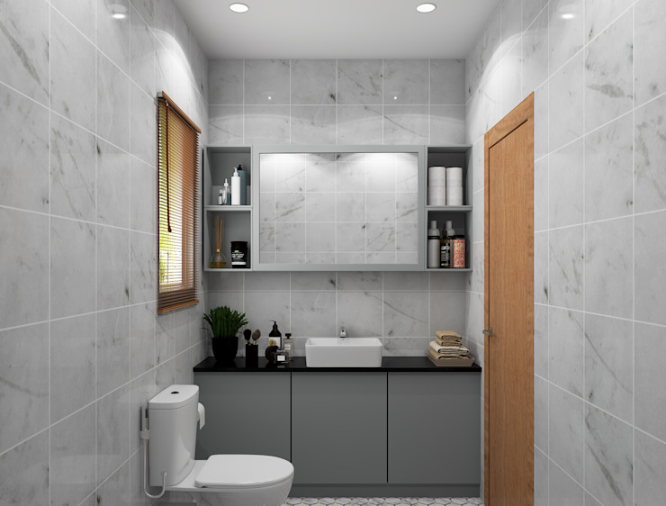 Modern bathroom design with a vanity unit Modern Bathroom by Rhythm And Emphasis Design Studio Modern