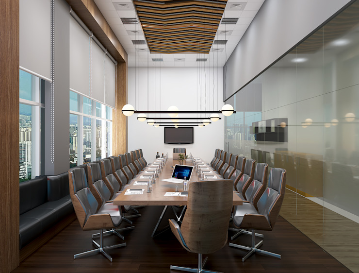 Modern conference room in an office توسط Rhythm And Emphasis Design Studio مدرن