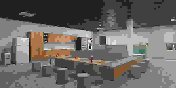 Cafeteria interiors in an institution توسط Rhythm And Emphasis Design Studio مدرن