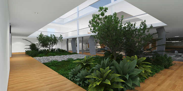 Open to sky corridor in an institution راهرو مدرن، راهرو و راه پله توسط Rhythm And Emphasis Design Studio مدرن