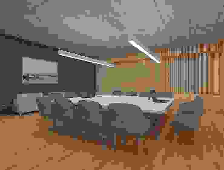 Meeting room interiors توسط Rhythm And Emphasis Design Studio مدرن